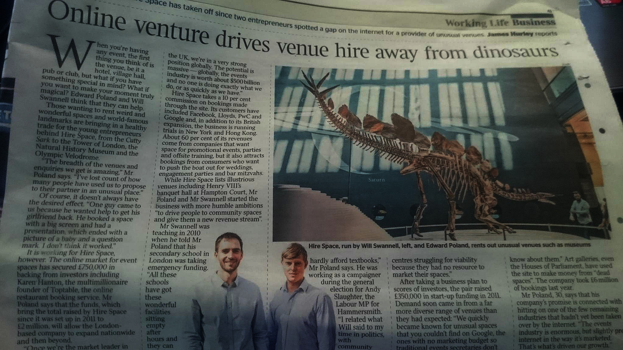 Featured in The Times