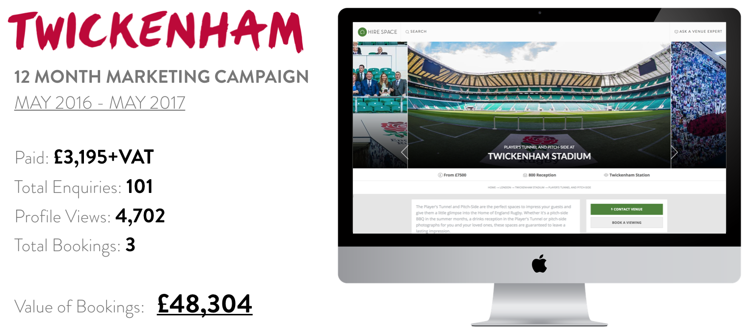 Twickenham marketing campaign