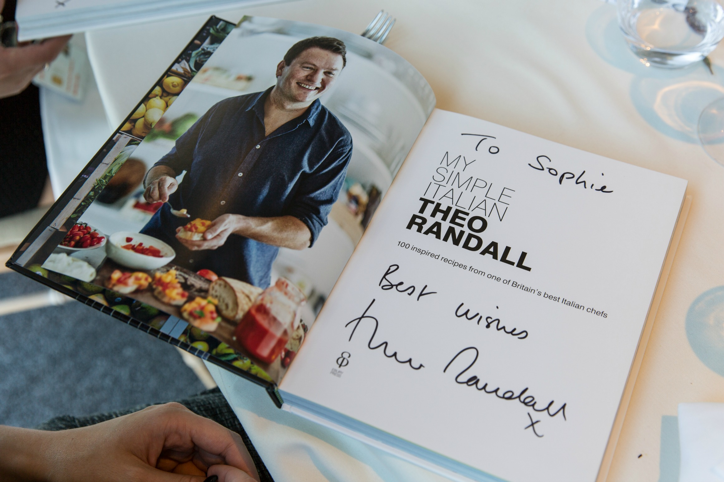 Signed Cookbook from Theo