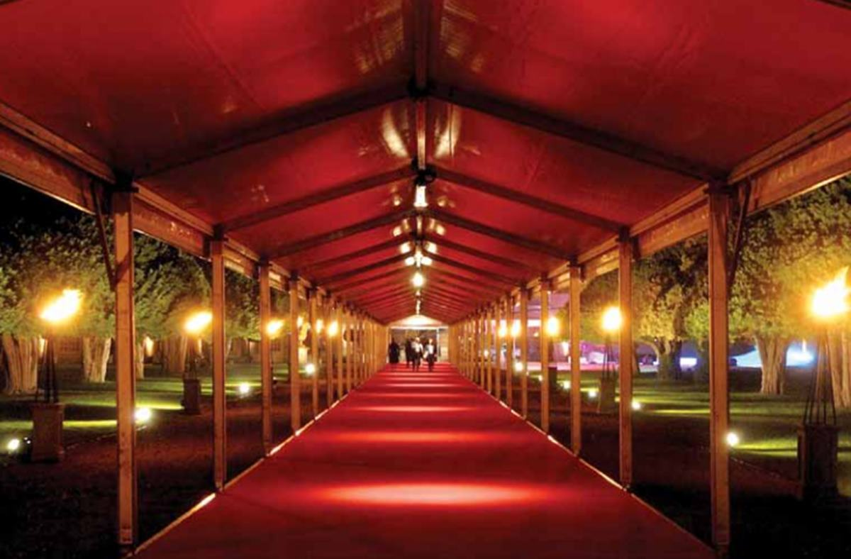 Hampton Court Red Carpet Entrance