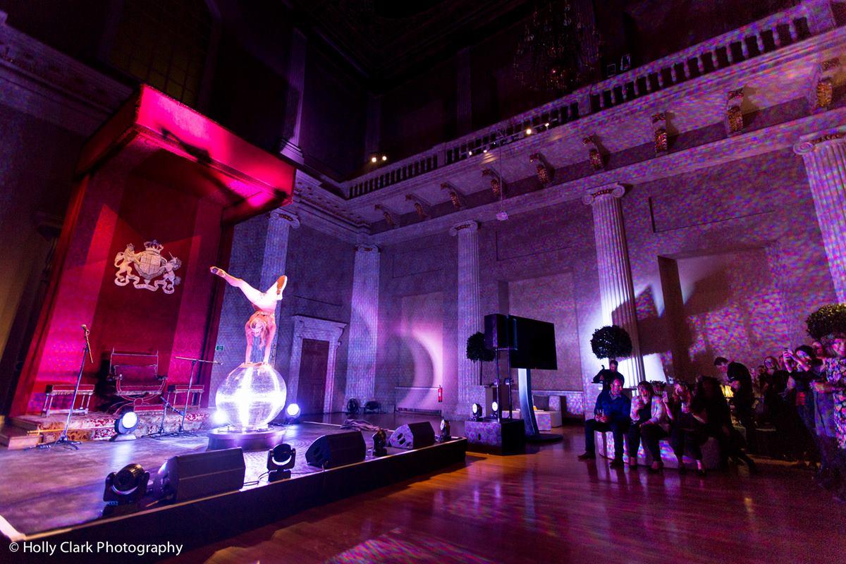 Sternberg Clarke acrobat performing